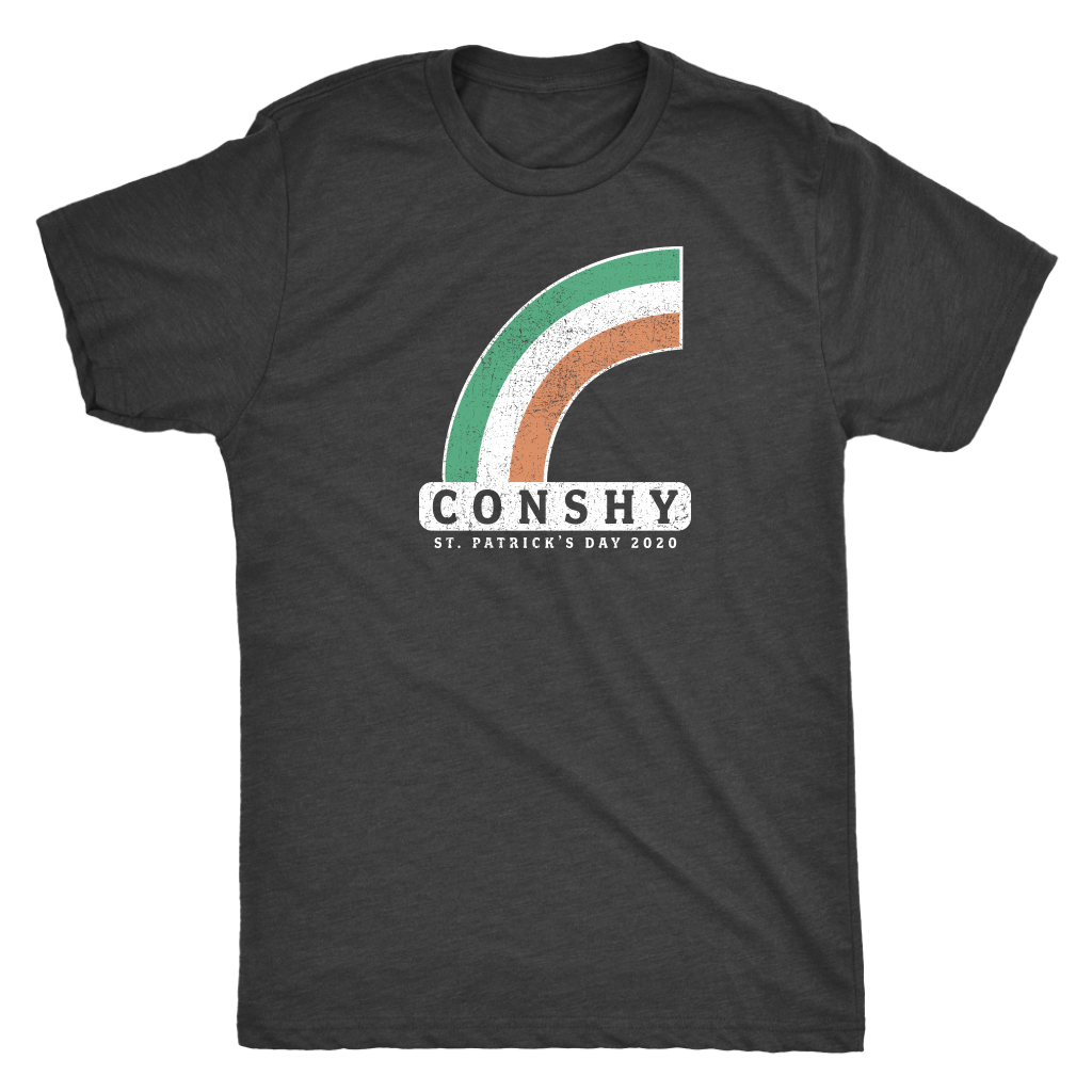 Conshy St. Patricks Day 2020 Rainbow Mens Triblend T-Shirt