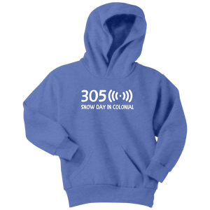 305 Snow Day in Colonial Hoodie - Youth