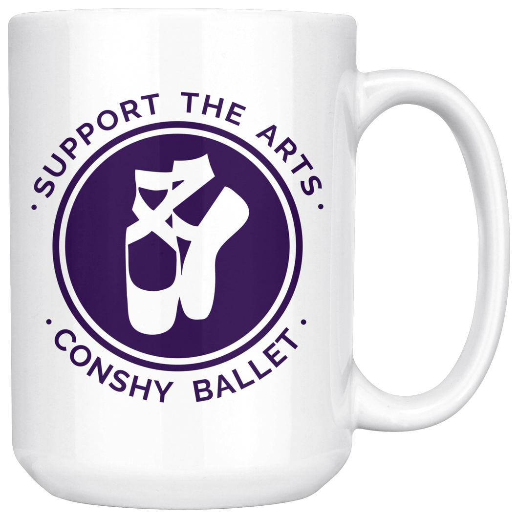 Support The Arts - Conshy Ballet 15oz Ceramic Mug