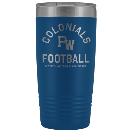 PW Colonials Football 20oz Tumbler
