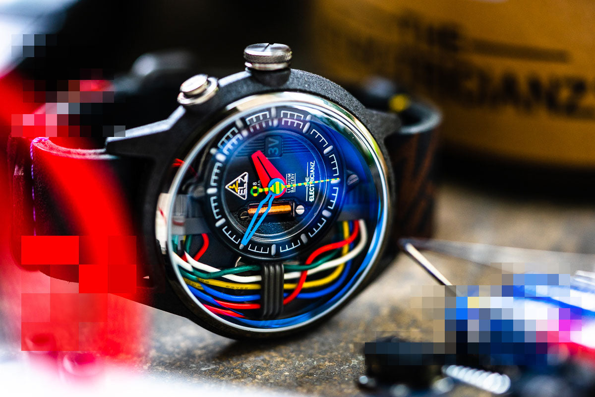 Carbon Z watch model from The Electricianz, Swiss watch brand