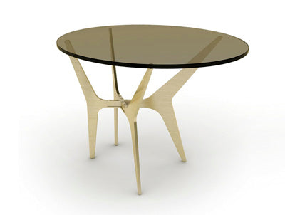 Oval Brass Side Table