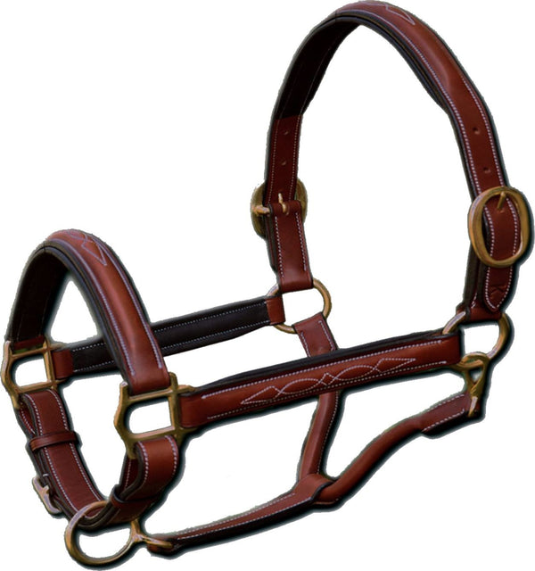 Raised Stitched Leather Halter