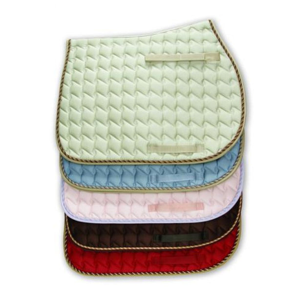 Century Trendsetter Spiral Quilted English Saddle Pad with Contrasting Binding