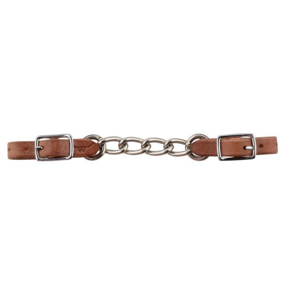 FRANCOIS GAUTHIER BIG LINK LEATHER CURB CHAIN