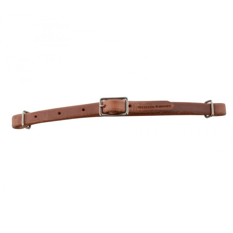 Western Rawhide All Leather Curb Strap