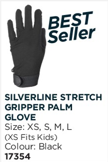 Silverline Stretch Gripper Palm Glove