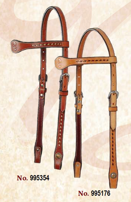 Dee Butterfield Buckstitch Browband Headstall - SHORT CHEEK