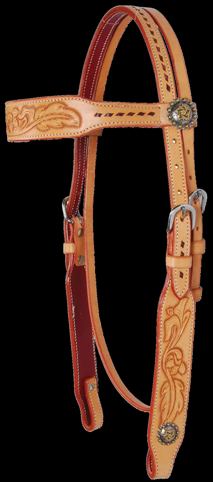 Country Legends Buckstitch & Feather Browband Headstall