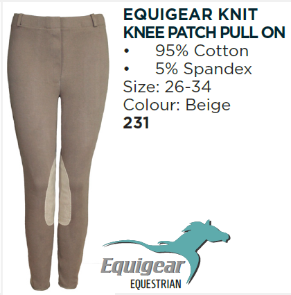 Equigear Pull On Knee Patch Breech