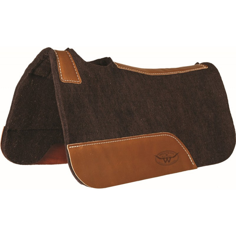 "MUSTANG 1/2"" FELT PONY PAD, BROWN"