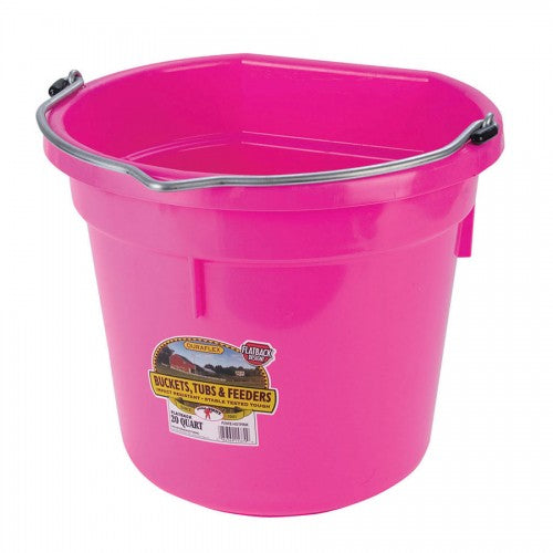 20 QT Flat Back Bucket
