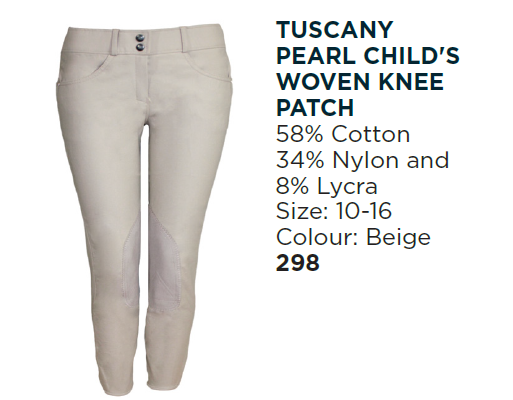 Childrens Tuscany Pearl Knee Patch Breech