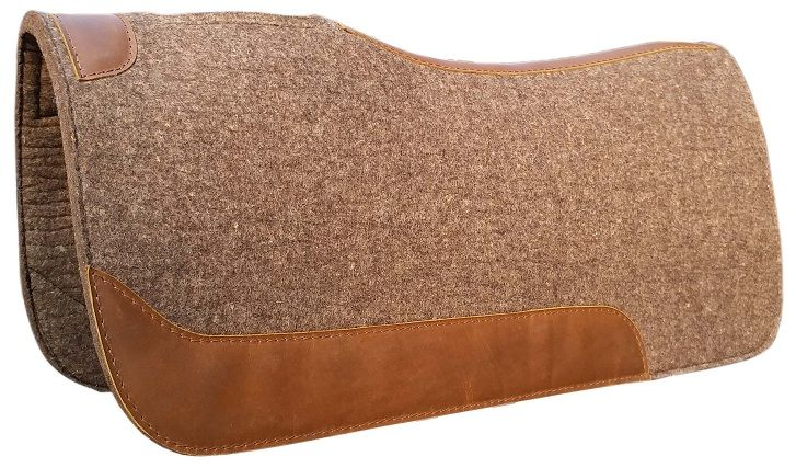 Wool Contoured Pad - Dark Brown