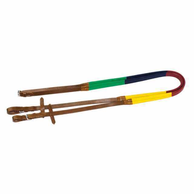 "Full Size 5/8"" Chetak Reins - Multi Colour"