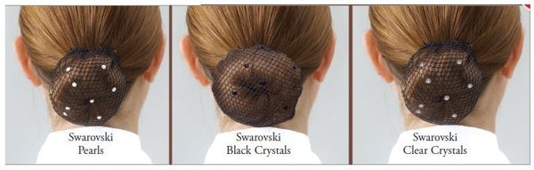 Showquest Bun Nets with Swarovski Accents