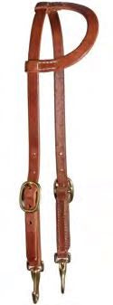 Professional Choice Headstall Flat Ear Brass Snap