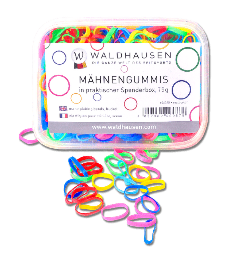 Wide Rainbow Braiding Elastics