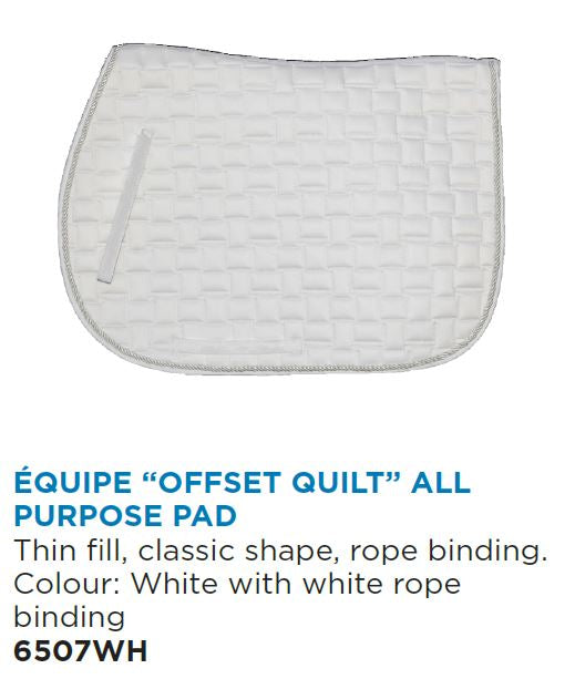 "Equipe ""Offset Quilt"" All Purpose English Saddle Pad"