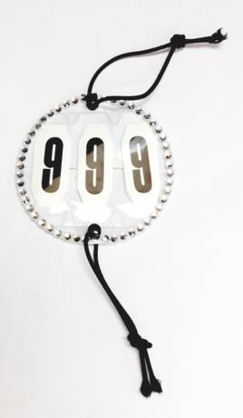 Round Head Numbers with White Crystals