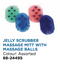 Jelly Scrubber Massage Mitt with Massage Balls