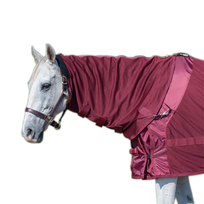 "Back on Track Coloured Mesh Rug with Mesh Hood - 81"" Wine In Stock - More Sizes on Order!"