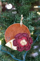 Cowhide & Flower Ornament