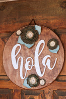Wooden Hola Sign