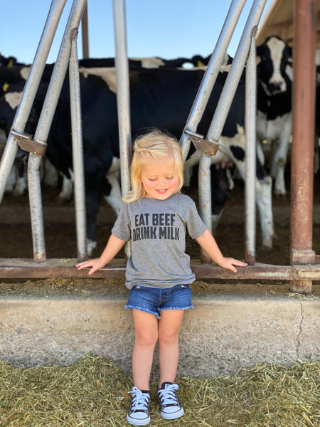 'Eat Beef Drink Milk' Toddler Unisex Fit Tee