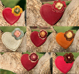 Leather Heart Teether Toy - Pick Your Color