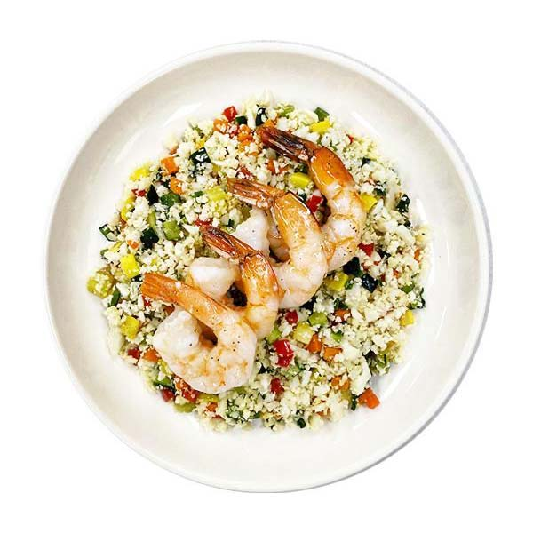 Wild Shrimp Stir Fry on Cauli Fried Rice