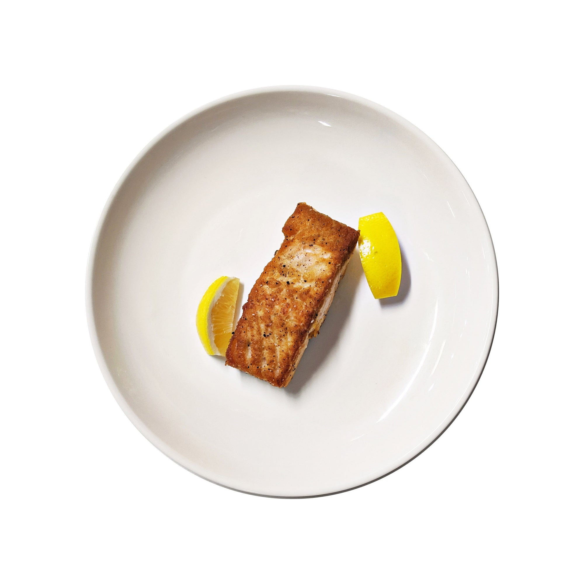 Wild Salmon with a Lemon Wedge