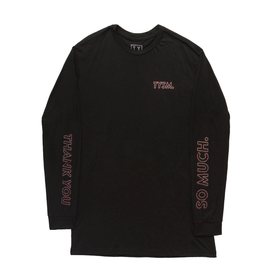 LP Long Sleeve Black/Pink - thankyouapparel