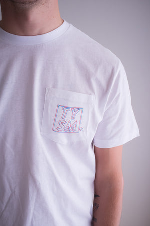 LP Pocket Tee Red/Blue - thankyouapparel