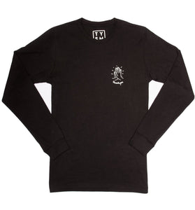 Hi-Five Long Sleeve Black/White - thankyouapparel