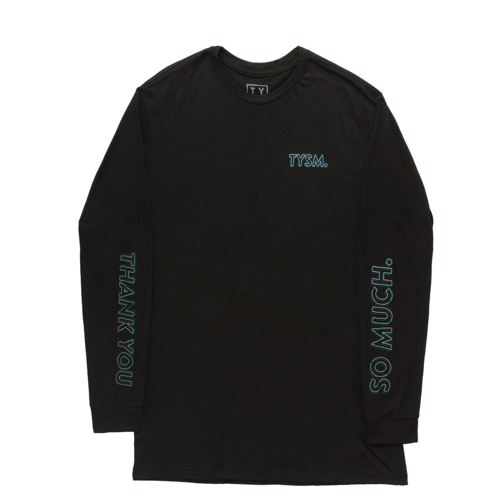 LP Long Sleeve Black/Blue - thankyouapparel