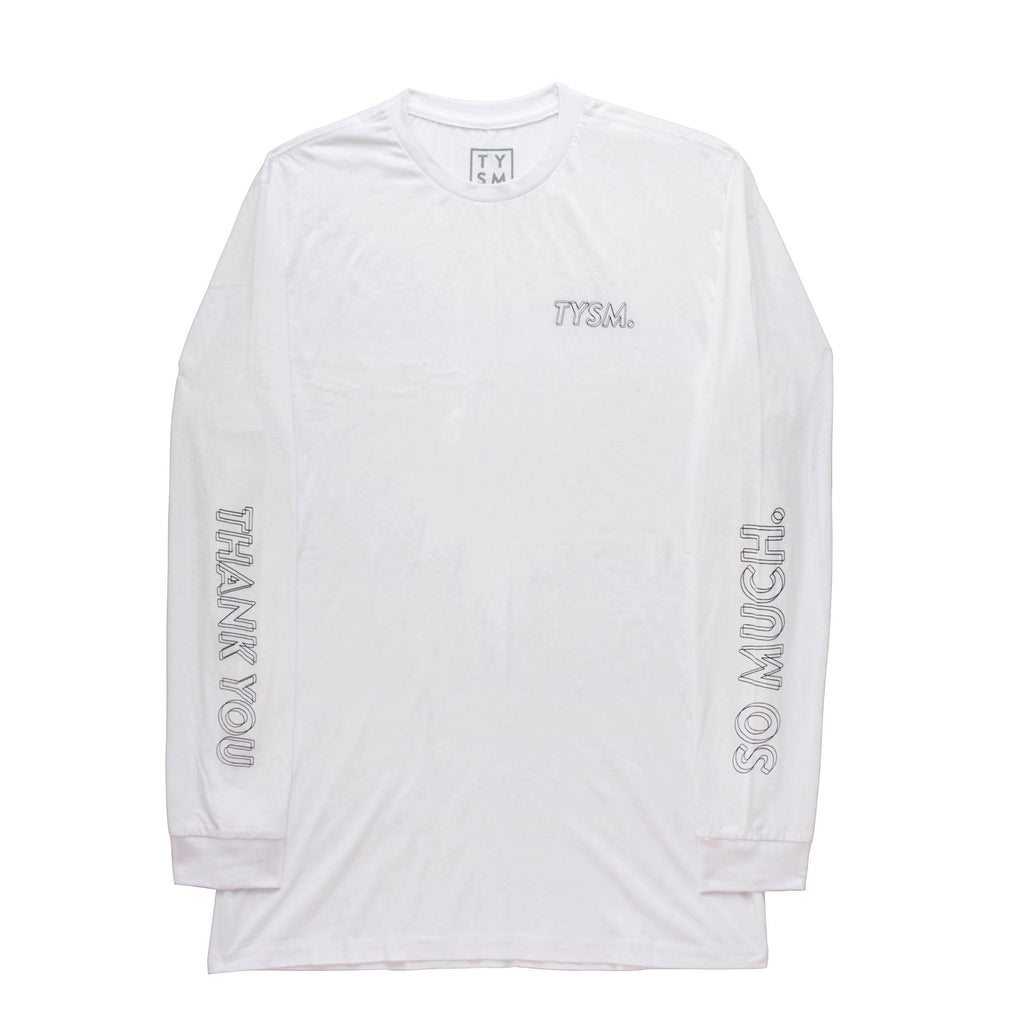 LP Long Sleeve White/Black - thankyouapparel