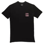 LP Pocket Tee Black/Pink - thankyouapparel