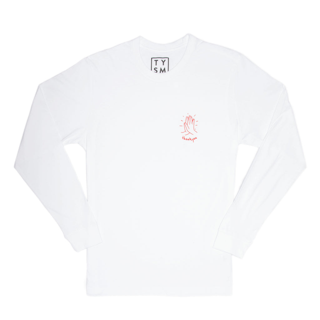 Hi-Five Long Sleeve White/Red