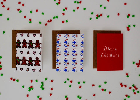 12-PK Assorted Bite-Sized Christmas / Holiday Card Bundle