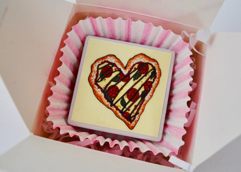 Pizza My Heart Tile Magnet