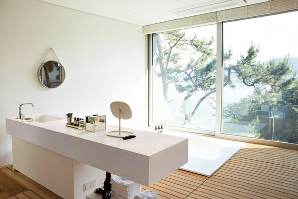 solid surface bathroom countertop