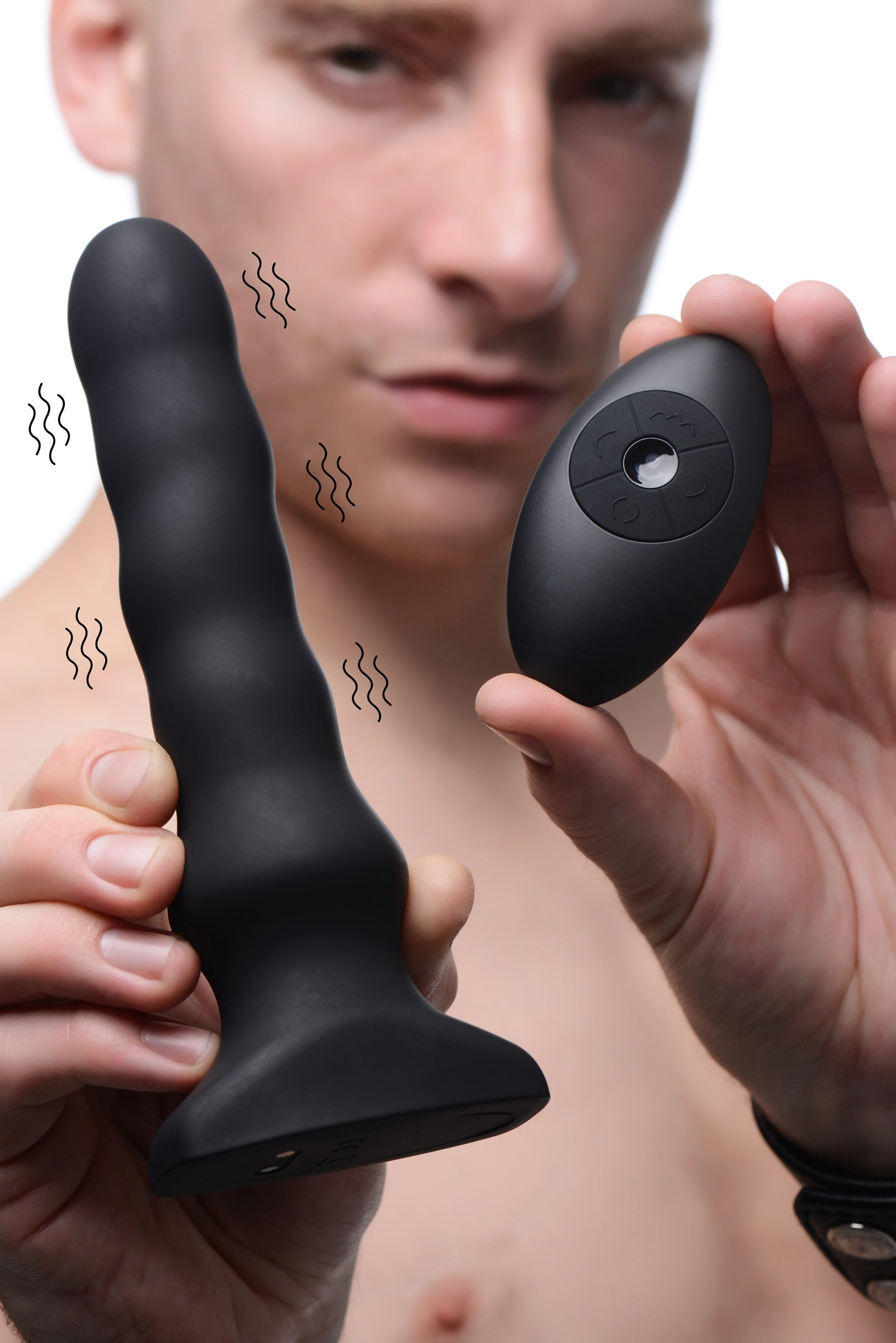 Silicone Vibrating and Squirming Plug with Remote Control