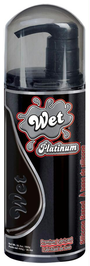 WET Platinum 16.0 fl.oz Lube with Pump