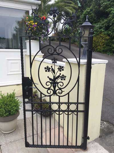 Decorative wrought Iorn Gate Installation - Devon