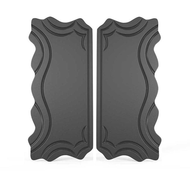 Oceanos Edged Gate lock Plate Cover - Wide