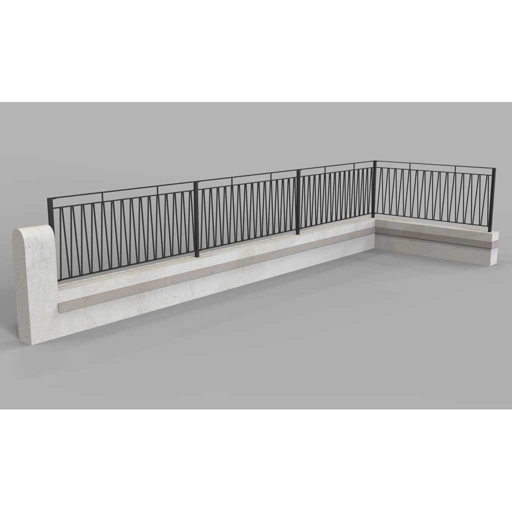 Balustrade - Dartmouth - V Styled Balustrade - Platform Balcony - Handrail
