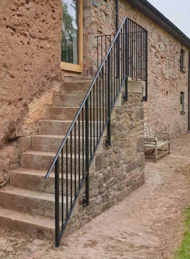 Balustrade - Oakhampton - Balustrade - Handrail - Attached To Side Of Steps