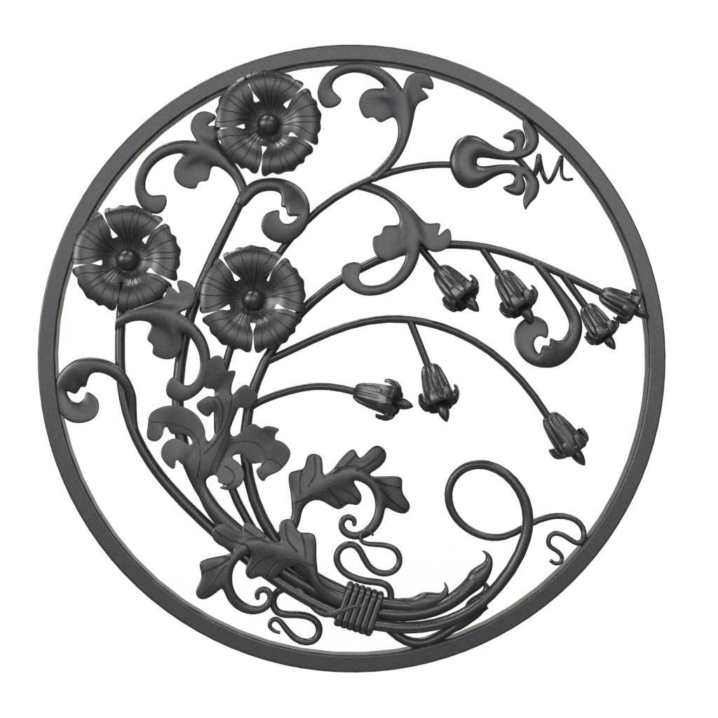 Decorative Panel - Decorative Flower Panel - Round Of Flowers