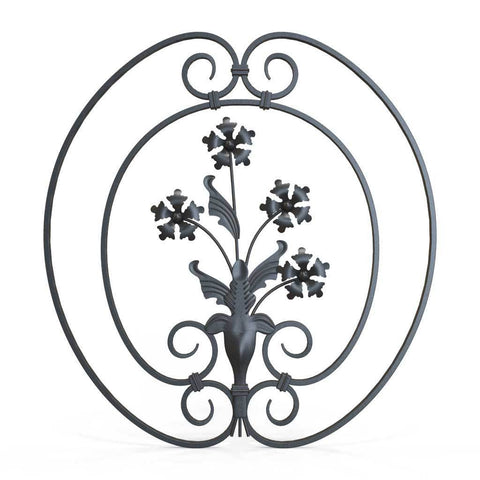 Decorative Steel Gate Lock Plate